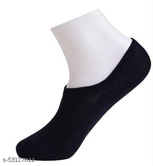 SmartMall Socks Unisex Cotton Loafer Socks (Black, Free Size) - Pack of 1