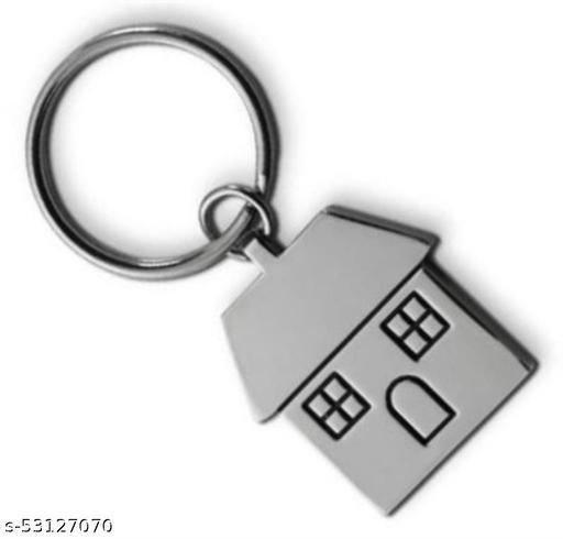 Belfast Premium Metal House Keychain - Silver
