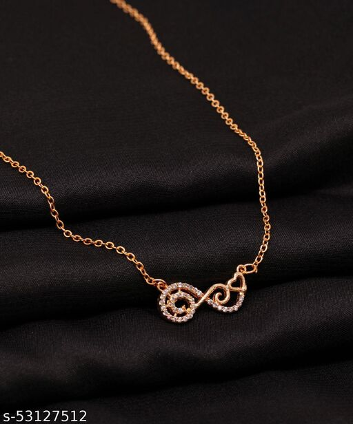 Love Heart Shape With White Cubic Zirconium Diamond Pendant Necklace for Girls And Women Fashion Jewelry