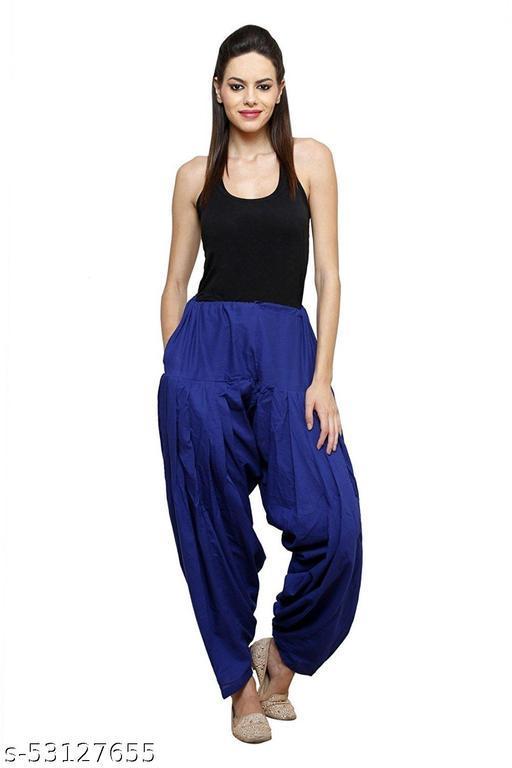 I Shop Girls & Women 100% Cotton Patiala Salwar (Free Size 30-36)