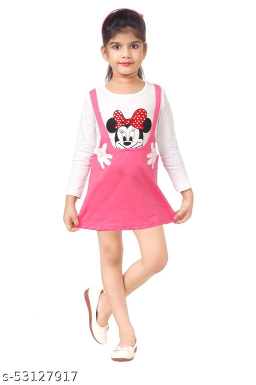 RC REYANSH CREATIONS Pinaforna Girls Frock Dress II Midi Dress Frock for Infant Toddler Baby Girl