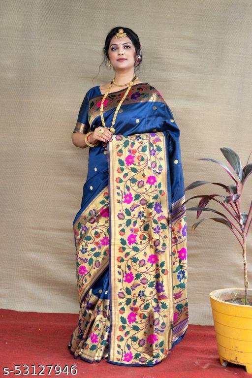 Paithani Pure Silk Handloom Saree With Pure Jari