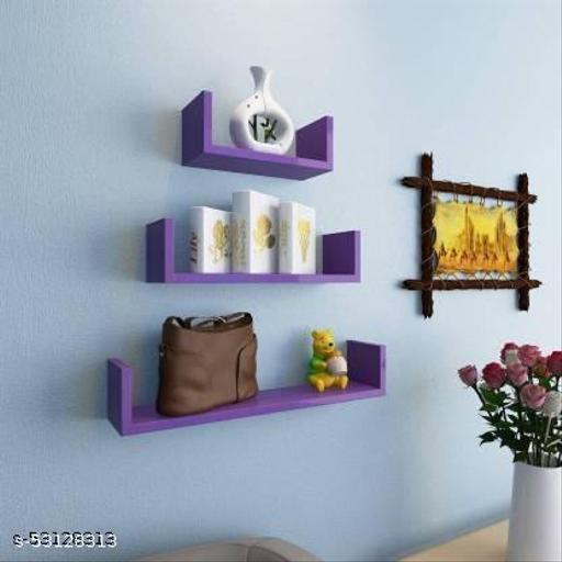 Wall shelf U rack shelves MDF Wall hanging ,floating,mounted ,decorative Home