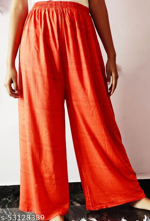 pack of 2 palazzo pants combo offer soft material with delicate design