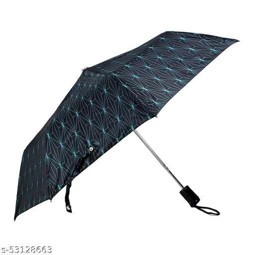 Umbrella 3 Fold Auto Open Waterproof 190 T Polyester Double Coated Silver Lined Umbrellas For Men and Women