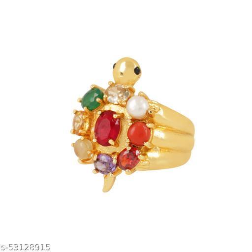 Navratna Tortoise Adjustable Ring