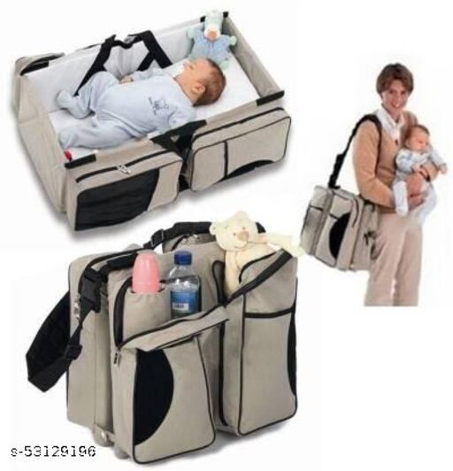 3 in 1 Travel Infant Bed Baby Diaper Bag & Baby Changing Pad Portable Systems   Infant Sleeping Bag travel bassinet travel bassinet  (Multicolor)