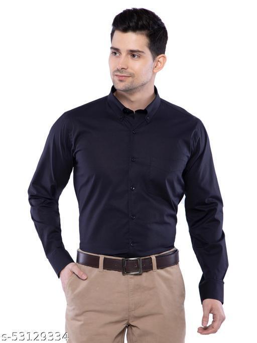 Men Shirts Button Down Collar
