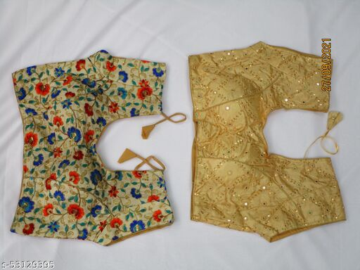 Combo Multi color and golden blouses