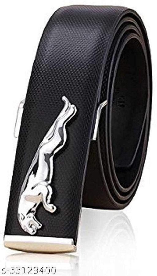 Men's Jaguar Belt Buckle (Black and Silver, Free Size)
