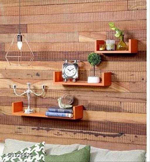 Wall shelf U Rack shelves MDF Wall hanging floating ,mounted ,decorative Home