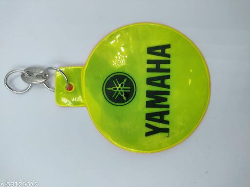 RACE MINDS Double Sided Circle Reflector Warning Tag With YAMAHA Logo For Night Glow