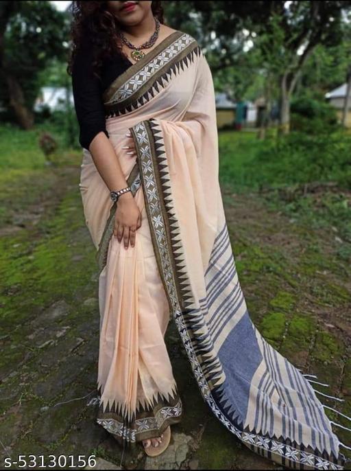 Cotton khadi saree with Blouse piece
