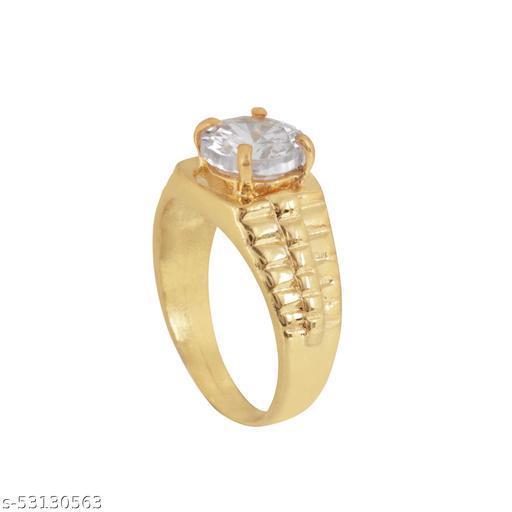 7.25 Ratti Natural White Zircon Stone Ring