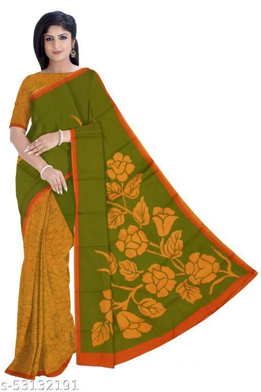 Malmal Cotton Half Half Saree