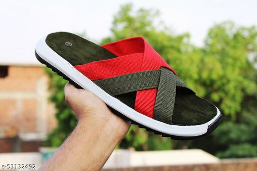 Vseca Multicolor Slippers For Men