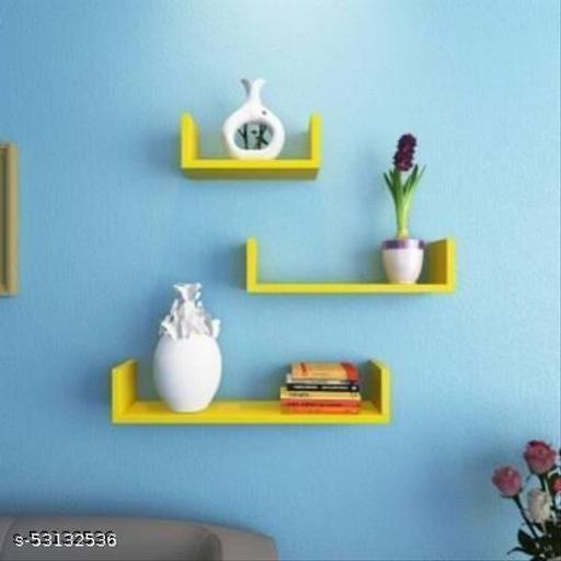 Wall shelf U Rack shelves MDF Wall hanging ,floating ,mounted ,decorative Home