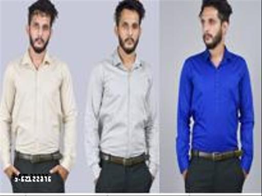 Suhan Men's Formal Shirt  (Pack of 3)