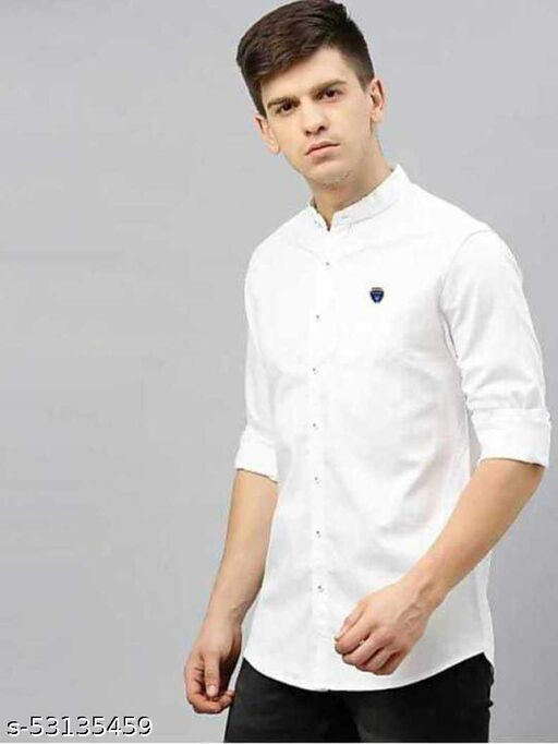 mandarin collar shirts with cotton fabric