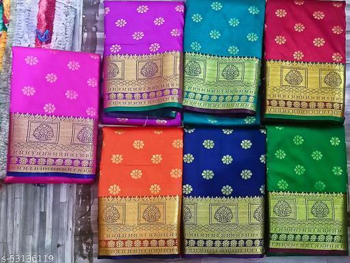 FANCY Banarsi Silk Karishma Saree Shoulder Boota design