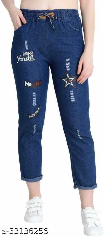 MHR FASHION DARK BLUE STAR JEANS