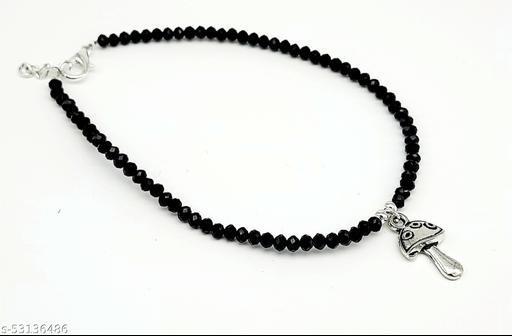 Black bead Anklet