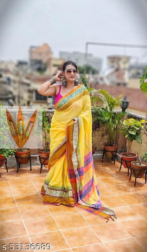 Pure Khadi Cotton saree with Blouse piece