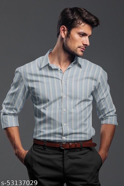 TIGTAG Full sleeves Men's Shirt Regular fit Lycra