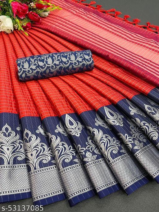 jacquard cotton silk saree