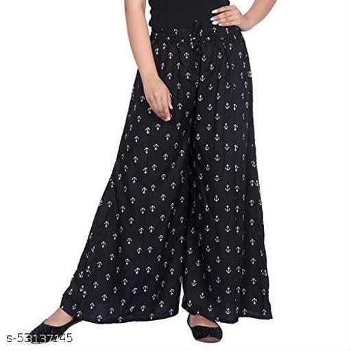 Chandila Fashion Stylish Unique Women Ragular Fit Rayon Printed Palazzos