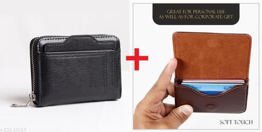 F17 PU Leather Credit/Debit Card Holder Money Wallet pack of 2