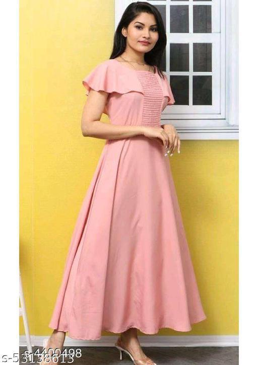 Stylist Woman Crape Gown