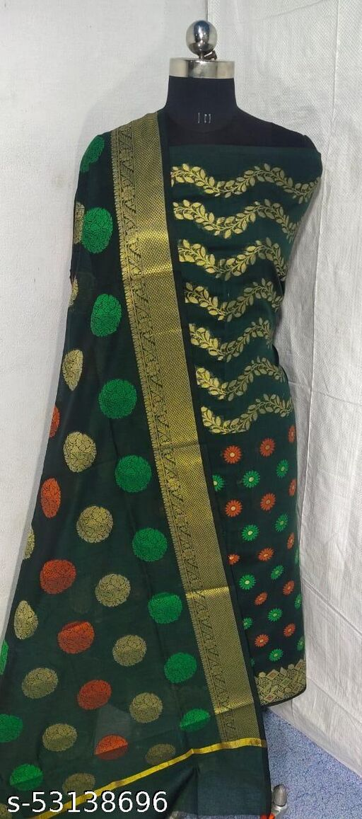 (S3Green) Weddings Special Banarsi Handloom Cotton Suit And Dress Material