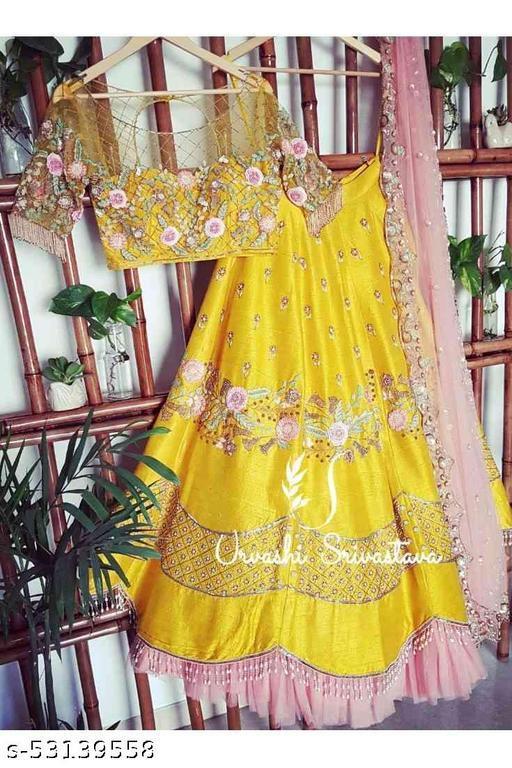 Wedding lehengas yellow colletion of latest design 2021 (pihu lehenga collection) LC 262