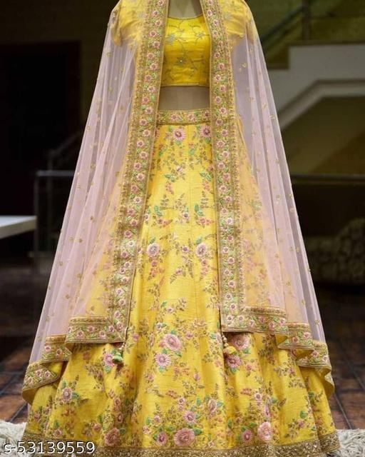 Wedding lehengas yellow colletion of latest design 2021 (pihu lehenga collection)LC 130