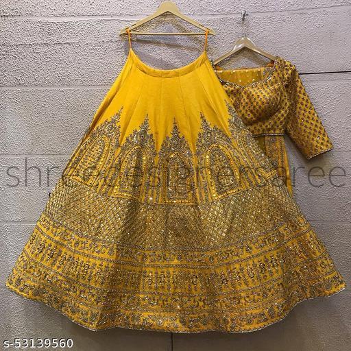 Wedding lehengas yellow colletion of latest design 2021 (pihu lehenga collection) LC 293