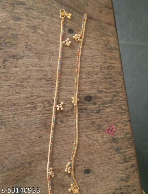 Golden payal with 24kt plating