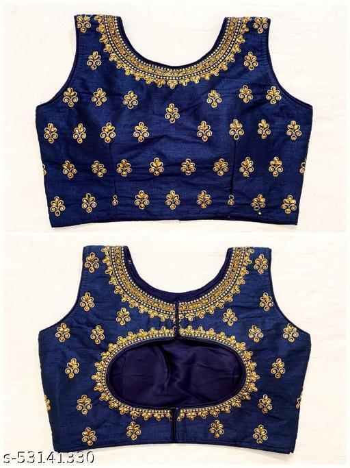 Phantom Silk Marvelous pattern on Neck & Back Blouses