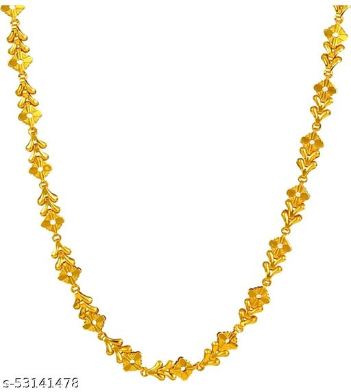 Attractive Latest Pure polished Long Gold Necklace Sachin Chains Chain for Men Boys Boy Friend Gents Male Mens (54cm)