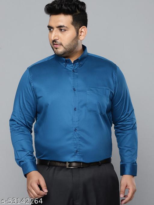 Dennison Men Blue Smart Slim Fit Pure Cotton Solid Formal Shirt