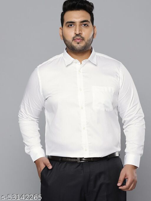 Dennison Men White Smart Slim Fit Pure Cotton Solid Formal Shirt