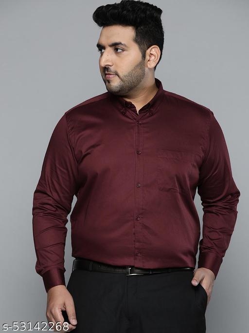 Dennison Men Burgundy Smart Slim Fit Pure Cotton Solid Formal Shirt