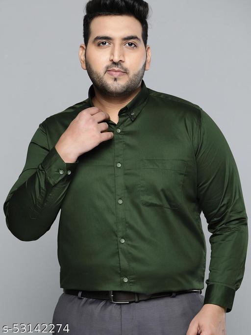 Dennison Men dark green Smart Slim Fit Pure Cotton Solid Formal Shirt