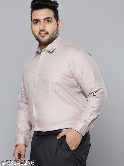 Dennison Men Grey Smart Slim Fit Pure Cotton Solid Formal Shirt
