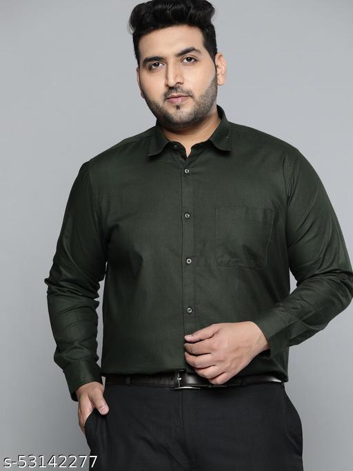 Dennison Men olive Smart Slim Fit Pure Cotton Solid Formal Shirt