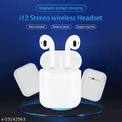 i12 TWS-TRUE-WIRELESS-STEREO-I12 AUTO POWER ON AUTO PAIRING 5.0  Bluetooth Headphones & Earphones