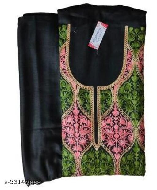 woolen Pashmina Suits with Shawl