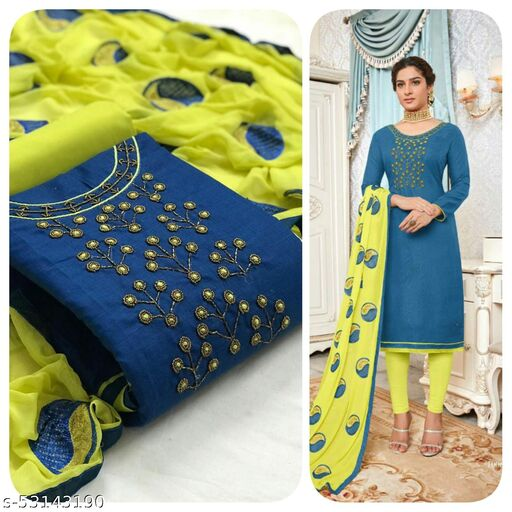 Trendy Fashionable Semi-Stitched Suits