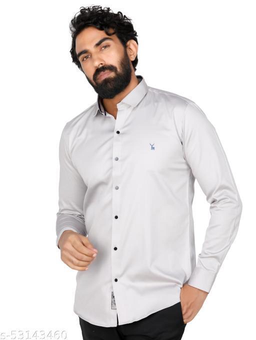 Crazil Men's Regular Fit Solid Premium Shirt