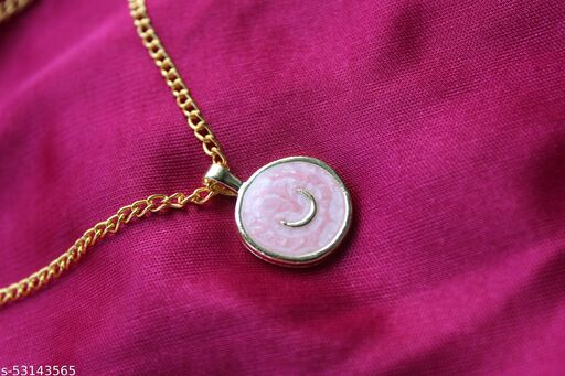 Galaxy pink necklace pendent tarnish free chain